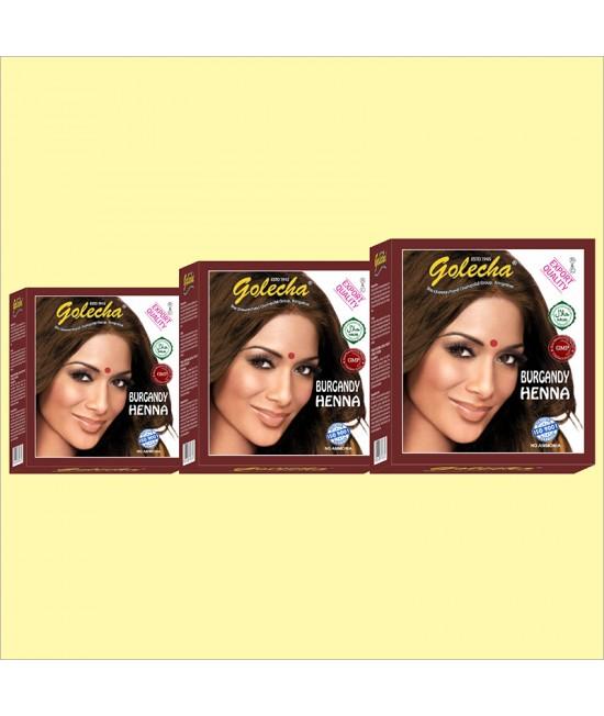Golecha Burgandy Henna Hair Dye