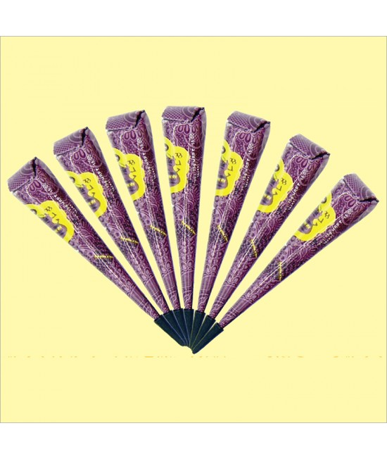 Golecha Purple Gold Henna Cone
