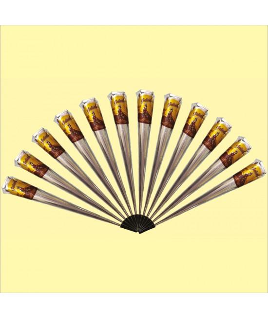 Golecha Maroon Jumbo Gold Henna Cone