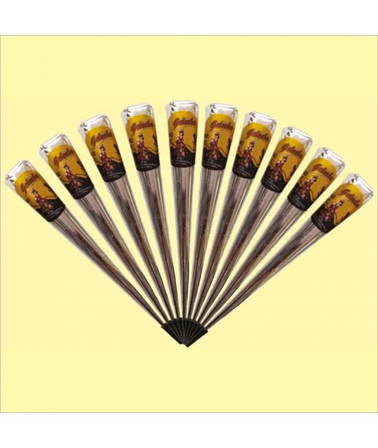 Golecha Black Jumbo Gold Henna Cone