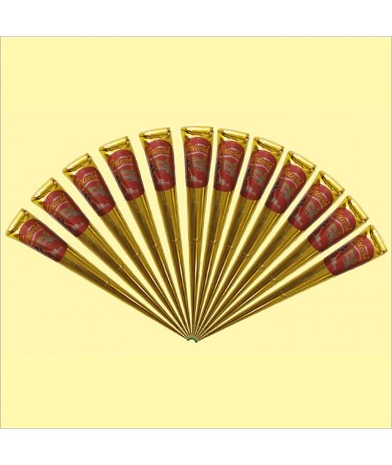 Golecha 100 Percent Natural Jumbo Gold Henna Cone
