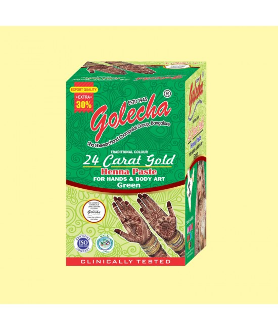 Golecha 24 Carat Gold Green Henna Paste Tube